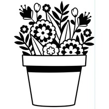 Darice Embossing Essentials Flowers In Pot (1219-402)
