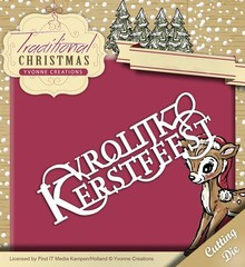 Yvonne Creations Traditional Christmas Vrolijk Kerstfeest (YCD10056)