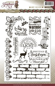 Amy Design Christmas Greeting Tekst Clear Stamp Set (ADCS10009)
