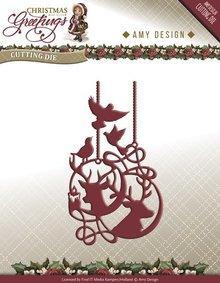 Amy Design Christmas Greetings Reindeer Ornament Die (ADD10069)
