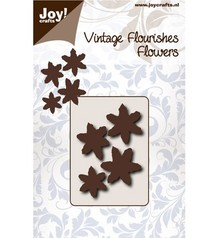 Joy!Crafts Cutting Stencil Vintage Flourishes Flowers (6003/0065)