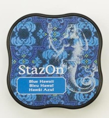 Tsukineko StazOn Blue Hawaii Midi Solvent Ink Pad (SZ-MID-65)