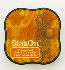 Tsukineko StazOn Orange Zest Midi Solvent Ink Pad (SZ-MID-71)