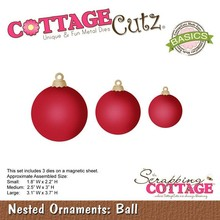Scrapping Cottage CottageCutz Nested Ornaments Ball (CCB-035)