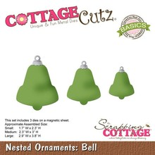 Scrapping Cottage CottageCutz Nested Ornaments Bell (CCB-036)