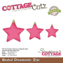 Scrapping Cottage CottageCutz Nested Ornaments Star (CCB-038)