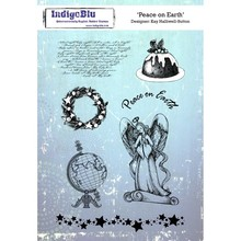 IndigoBlu Peace On Earth A5 Rubber Stamp (IND0266)