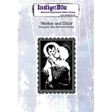 IndigoBlu Mother And Child A6 Rubber Stamp (IND0267)