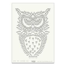 Claritystamp Art Stencil A5 Owl (STE-BI-00122-A5)