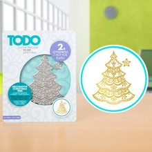 TODO Hot Foil Press Decorative Christmas Tree (20990)