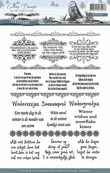 Amy Design Wintertide Tekst Clear Stamp Set (ADCS10012)