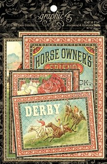 Graphic 45 Off To The Races Journaling & Ephemera Cards (4501467)