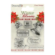 Dovecraft Winter Blooms Clear Stamps Holly and Bells (DCSTP067X16)