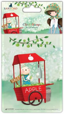 Kori Kumi Clear Stamps An Apple A Day - Cart (SSKKSTMP001)