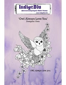 IndigoBlu Owl Always Love You A6 Rubber Stamp (IND0278)