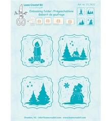 Leane Creatief Frames Winter Embossing Folder (35.2632)