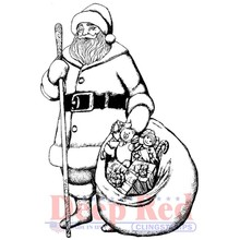 Deep Red Old Saint Nick Cling Stamp (3X505584)