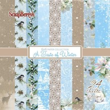ScrapBerry's A Taste Of Winter Paper Set 6x6 Inch One Sided (24 Sheets Per Pack) (SCB220611008x)