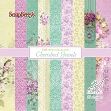 ScrapBerry's Cherished Jewels Paper Set 6x6 Inch One Sided (24 Sheets Per Pack) (SCB220612008x)