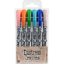 Ranger Tim Holtz Distress Crayon Set 6 (TDBK51763)