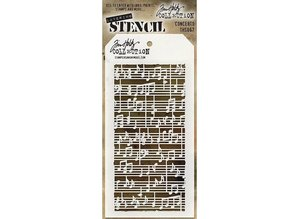 Stampers Anonimous Tim Holtz Concerto Layering Stencil (THS067)