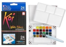 SAKURA Koi Watercolor Field Sketch Box Set - 24 Color Palette (XNCW-24N)