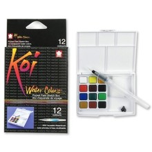 SAKURA Koi Watercolor Field Sketch Box Set - 12 Color Palette (XNCW-12H)