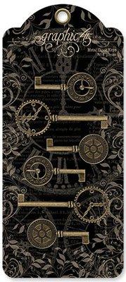 Graphic 45 Metal Clock Keys (4501293)
