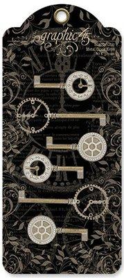 Graphic 45 Metal Clock Keys Shabby Chic (4501294)