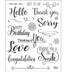 Viva Decor Just To Say Clear Stamp Set (4003 156 00)