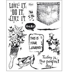 Viva Decor Grunge Clear Stamp Set (4003 157 00)