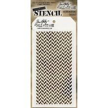 Stampers Anonimous Tim Holtz Herringbone Layering Stencil (THS057)