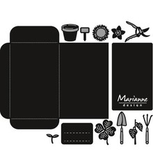 Marianne Design Craftable Seed Pocket & Garden Tools (CR1395)