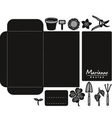 Marianne Design Craftable Seed Pocket & Garden Tools (CR1395)