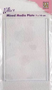 Nellie Snellen Mixed Media Plate Rectangle 7x10cm (NMMP003)