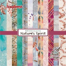 ScrapBerry's Nature's Spirit 6x6 Inch Paper Collection 190 gsm (24 sheets, 12 Designs) (SCB220610009x)