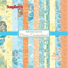 ScrapBerry's Ocean Enchantment 6x6 Inch Paper Collection 190 gsm (24 sheets, 12 Designs) (SCB220610109x)