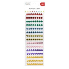 Simply Creative Adhesive Gems 10mm Rainbow (SCDOT028)