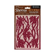 Crafter's Companion Sheena Douglass Day Of The Dead Twisted Vines 5x7 Inch Embossing Folder (SD-EF-TWIST)