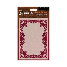 Crafter's Companion Sheena Douglass Day Of The Dead Baroque Frame 5x7 Inch Embossing Folder (SD-EF-BARQ)