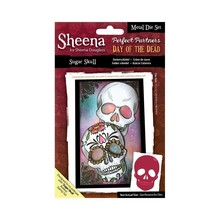 Crafter's Companion Sheena Douglass Day Of The Dead Sugar Skull Metal Die Set (SD-PPMD-SKULL)