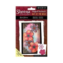 Crafter's Companion Sheena Douglass Day Of The Dead Floral Fiesta Metal Die Set (SD-PPMD-FIEST)