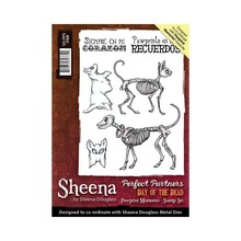 Crafter's Companion Sheena Douglass Day Of The Dead Pawprint Memories Unmounted Rubber Stamp Set (SD-PPS-PAW)