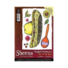 Crafter's Companion Sheena Douglass Day Of The Dead Sombrero Unmounted Rubber Stamp Set (SD-PPS-SOMB)