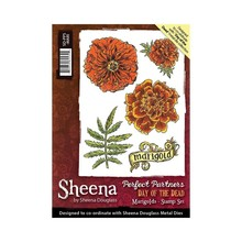 Crafter's Companion Sheena Douglass Day Of The Dead Marigolds Unmounted Rubber Stamp Set (SD-PPS-MARI)
