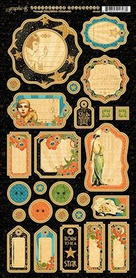 Graphic 45 Vintage Hollywood Journaling Chipboard (4501537)
