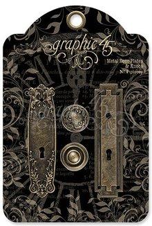 Graphic 45 Metal Door Plates & Knobs (4501295)