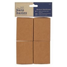 Papermania Bare Basics Medium Matchboxes (4 pcs) (PMA 174652)