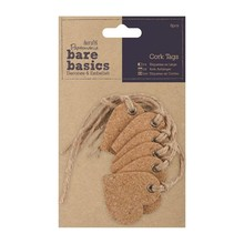 Papermania Bare Basics Cork Tags - Hearts (PMA 174806)