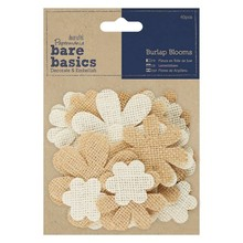 Papermania Bare Basics Burlap Blooms (40pcs) (PMA 174863)